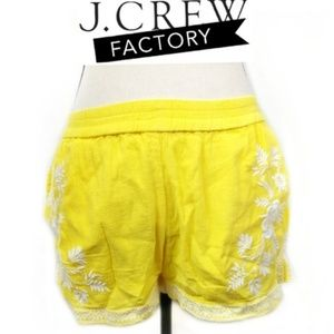 J.Crew Factory Embroidered Cotton Gauze Shorts 4